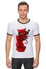 "Футболка Рингер ""Hellboy"" - комиксы, marvel, марвел, hellboy, хеллбой"