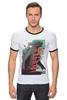 "Футболка Рингер ""Godzilla "" - кино, иероглифы, годзилла, godzilla, kinoart"