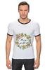 """Футболка Рингер """"Несу добро"""" - цветы, надпись, добро, несу добро"""