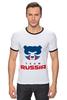 "Футболка ""Рингер"" (Мужская) ""Russia team"" - русский, россия, russia, путин"