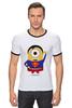 "Футболка Рингер ""Миньоны"" - супермен, superman, миньоны, minion, minions"