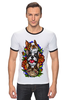 "Футболка Рингер ""бульдоги"" - dog, роза, roses, бульдог, bulldogs"