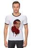 """Футболка """"Рингер"""" (Мужская) """"Сальвадор Дали и розы."""" - арт, сюрреализм, roses, salvador dali, surrealism, artist"""
