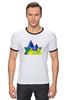 """Футболка Рингер """"Весна в горах"""" - орнамент, акварель, паттерн, треугольники, треугольный"""