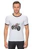 "Футболка ""Рингер"" (Мужская) ""Мотоцикл"" - мотоцикл, bike"