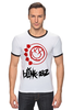 "Футболка Рингер ""blink-182 red logo"" - blink-182, ava, blink 182, angelsandairwaves, blink182"