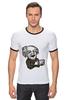 "Футболка ""Рингер"" (Мужская) ""Эйнштейн"" - арт, albert einstein, физика, эйнштейн, scientist"