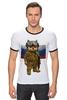 """Футболка """"Рингер"""" (Мужская) """"Вежливые Люди"""" - армия, россия, флаг, крым, вежливые люди"""