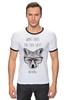 """Футболка """"Рингер"""" (Мужская) """"Лиса в очках"""" - очки, fox, лиса"""