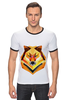 "Футболка Рингер ""Одинокий волк"" - хипстер, волк, минимализм, wolf, hipster, модные сумки"