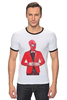 "Футболка ""Рингер"" (Мужская) ""Spiderman"" - marvel, spiderman, человек-паук"