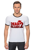 "Футболка ""Рингер"" (Мужская) ""Dead Island 2"" - zombie, зомби, кровь, ужасы, dead island 2"