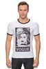 """Футболка """"Рингер"""" (Мужская) """"Мадонна (Vogue)"""" - madonna, мадонна, вог, vogue"""