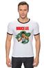 "Футболка ""Рингер"" (Мужская) ""Bruce Lee"" - karate, bruce lee, fighter, карате, брюс ли"