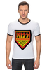 "Футболка Рингер ""Kiss Army"" - kiss, kiss army, кисс"
