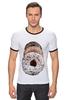 "Футболка ""Рингер"" (Мужская) ""Donuts"" - photo, пончики, пончик, ням, вкуснятина, delitios, donuts"