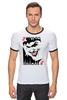"""Футболка Рингер """"JOKER """" - joker, карта, улыбка, злодей, готэм"""