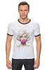 """Футболка """"Рингер"""" (Мужская) """"Marilyn Monroe """" - блондинка, мэрилин монро, marilyn monroe, bubble gum"""