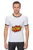 "Футболка ""Рингер"" (Мужская) ""Pooow!"" - boom, pop art, pow, blast"