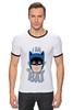 """Футболка """"Рингер"""" (Мужская) """"I Am the Bat"""" - комиксы, batman, герой, бэтмен"""