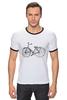 "Футболка ""Рингер"" (Мужская) ""Велосипед"" - bicycle, велосипед"