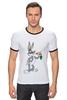 """Футболка Рингер """"Кролик Роджер"""" - смешное, мультик, герой, кролик, детское"""