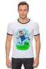 "Футболка ""Рингер"" (Мужская) ""Марио (Mario)"" - nintendo, mario, марио"