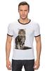 """Футболка Рингер """"Милый пушистый кот     """" - кот, кошка, котэ, алина макарова, мэйн кун"""