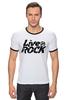 "Футболка Рингер ""Футболка LiveInRock"" - рок, rock"
