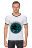 "Футболка Рингер ""San Jose Sharks"" - спорт, хоккей, nhl, нхл, сан хосе шаркс"