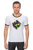 "Футболка ""Рингер"" (Мужская) ""Кубик рубика "" - арт, игра, ретро, rubik's cube"