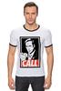 "Футболка ""Рингер"" (Мужская) ""Better call Saul"" - obey, call, better call saul, лучше звоните солу, сол гудман"