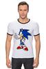 """Футболка Рингер """"Sonic the Hedgehog"""" - games, игры, ёжик, компьютерные игры, pc, соник, sonic, 80's, video games"""