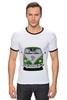 """Футболка Рингер """"Volkswagen"""" - арт, стиль, ретро, vw, фольксваген, mini van"""