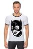 """Футболка """"Рингер"""" (Мужская) """"Женщина-кошка (Catwoman)"""" - batman, бэтмен, женщина-кошка, catwoman, dc comics"""