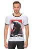 "Футболка Рингер ""Godzilla "" - кино, динозавры, годзилла, godzilla, kinoart"