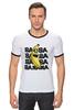 "Футболка ""Рингер"" (Мужская) ""Banana Minion"" - banana, банан, миньон, minion"