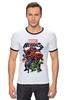 "Футболка ""Рингер"" (Мужская) ""Marvel Heroes"" - comics, marvel, superheroes"