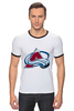 "Футболка Рингер ""Colorado Avalanche"" - nhl, нхл, colorado avalanche"