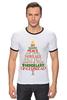 """Футболка Рингер """"Christmas Tree"""" - новый год, звезда, рождество, new year, christmas, christmas tree, 2015"""