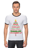"Футболка ""Рингер"" (Мужская) ""Christmas Tree"" - новый год, звезда, рождество, new year, christmas, christmas tree, 2015"