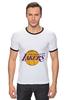 "Футболка ""Рингер"" (Мужская) ""Lakers"" - баскетбол, нба, лейкерс, lakers, los angeles lakers"