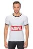 "Футболка ""Рингер"" (Мужская) ""Marvel"" - комиксы, классная, крутая, marvel, spider man, марвел, железный человек, iron man, капитан америка, локи"