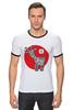 """Футболка """"Рингер"""" (Мужская) """"Символ 2015"""" - новый год, символ, 2015, коза, goat"""