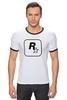 """Футболка """"Рингер"""" (Мужская) """"Rockstar"""" - авторские майки, games, игры, игра, game, gamer, gta, rockstar, рокстар, rockstar games"""