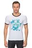"""Футболка Рингер """"Белый Волк"""" - животные, абстракция, волк, wolf"""