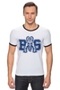 "Футболка ""Рингер"" (Мужская) ""Реальные Парни (Blue Mountain State) BMS"" - сериал, bms, blue mountain state, американский футбол, american football, реальные парни"