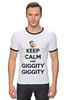 """Футболка """"Рингер"""" (Мужская) """"Keep Calm and Giggity"""" - keep calm, family guy, гриффины, giggity, гленн куагмаер"""