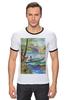 "Футболка Рингер ""Весенняя рыбалка."" - весна, пейзаж, рыбалка"