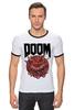 "Футболка ""Рингер"" (Мужская) ""Doom game "" - games, игра, game, doom, 90's, video games, дум, игы"
